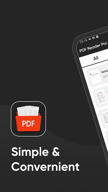 PDF Reader Pro Android App Screenshot