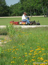Photo: Doug Blodgett with narrow gauge train near Cabin Creek.  HALS-SLWS 2009-0522