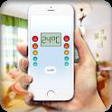 Precise thermometer icon