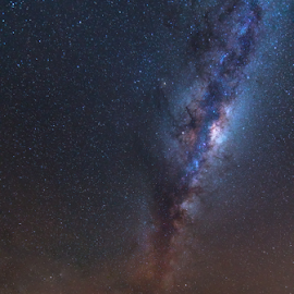 Gamkapoort by Clive Wright - Landscapes Starscapes ( gamkapoort, sky, dam, milky way, night, stars, dry dam )