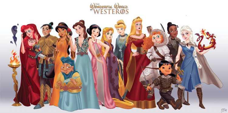 Princesas Disney en Juego de tronos