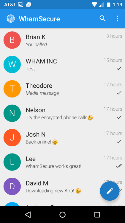 WhamSecure- screenshot