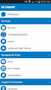 Victoria University Mobile App - náhled