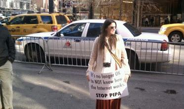 Photo: A protester