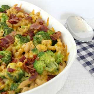 Homemade Bacon Broccoli Mac and Cheese