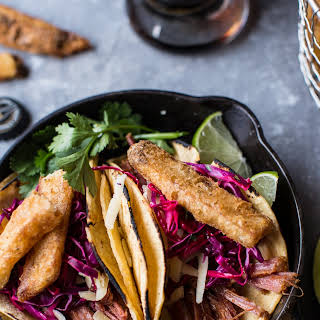 Corned Beef Tacos with Beer Battered Fries..