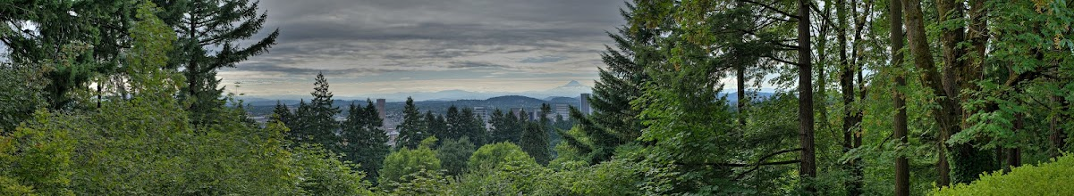 Photo: Portland from Japanese Garden panoramic HDR
