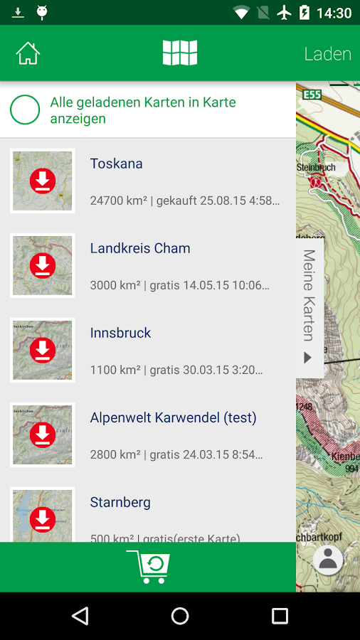 KOMPASS Wanderkarte- screenshot