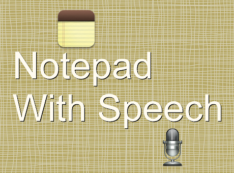 Notepad With Speech