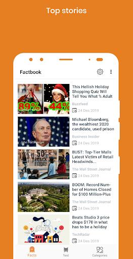 factbook -psychology facts,facts and trending news screenshot 2