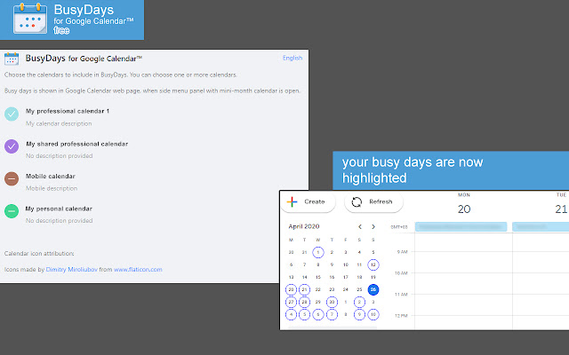 BusyDays for Google Calendar™