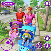 Unduh Virtual Mother New Baby Twins Family Simulator Gratis