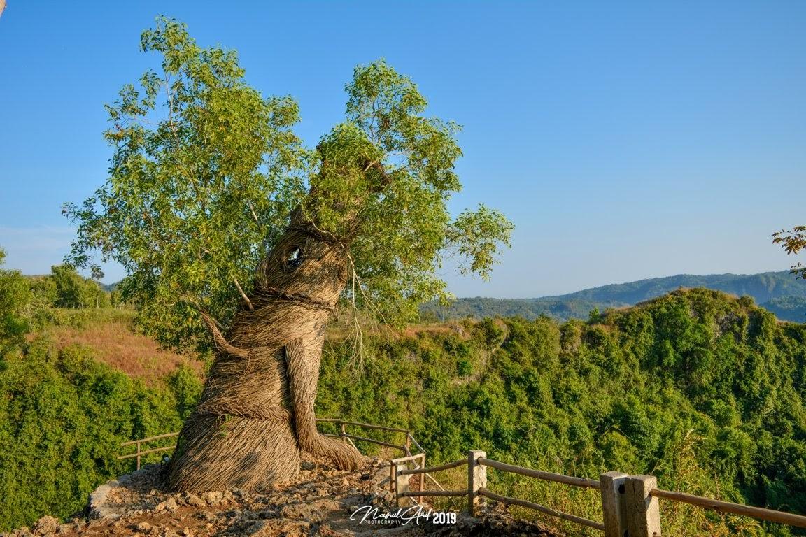Karya seni akar hutan di watu payung