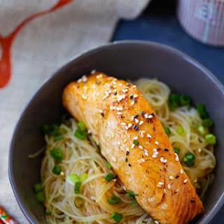Salmon Teriyaki Noodles.