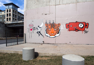 Photo: Eye of the Tiger  One of my favorite corners in Austin is an always evolving, ever changing public art gallery. The artist Truth often has his wheatpaste here and the city workers tend to paint over the wall every 2 weeks, allowing for new work.  #streetartsunday cc+Luís Pedro+Mark Seymour  #graffiti #austin