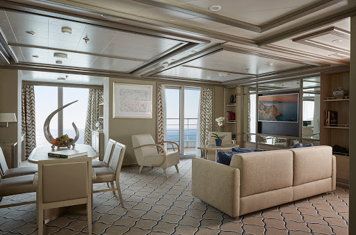 Silver-Muse-Owners-Suite.jpg - Enjoy a stylish apartment at sea: Book a cruise on Silver Muse in a luxurious Owner's Suite.