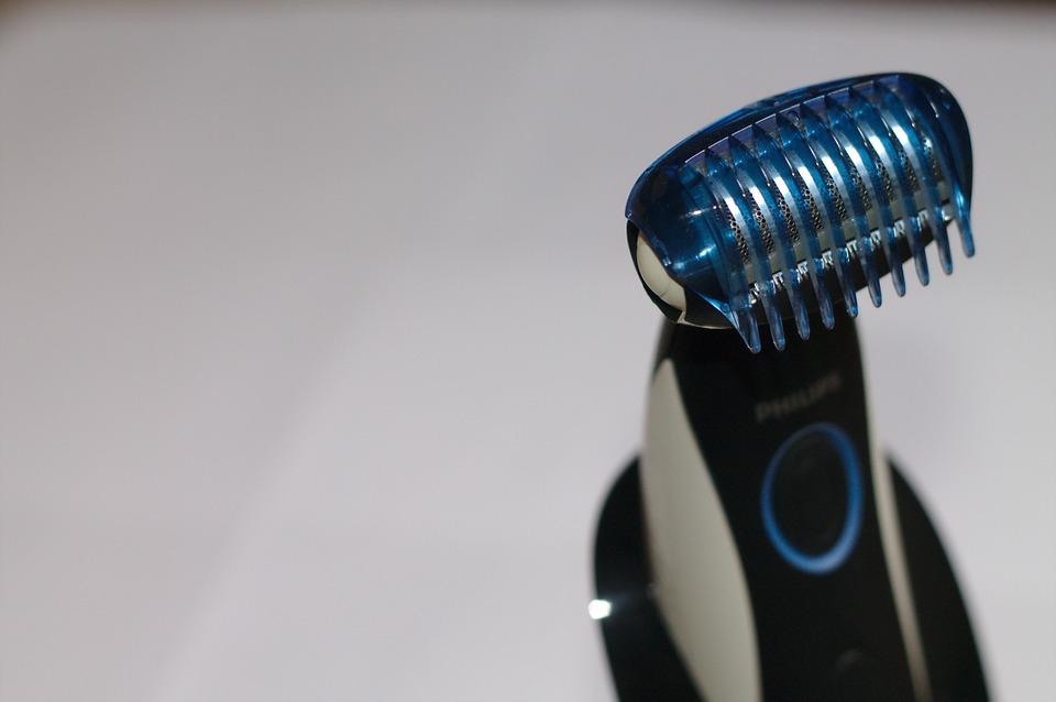 Close-up van een baardtrimmer