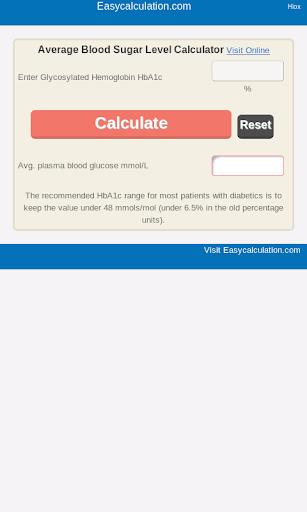 Average Blood Sugar Level Calc