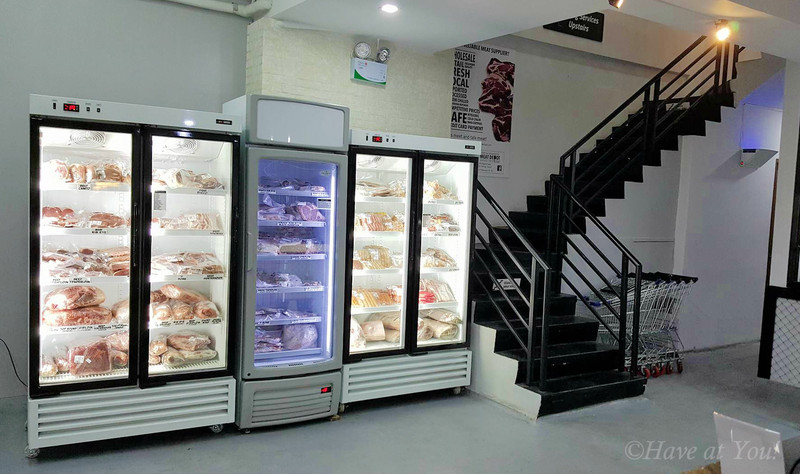 Meat Depot fridge on first floor