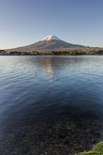 Photo: Mt Fuji from the shores of Lake Kawaguchiko as the sun rises on the Land of the Rising Sun.