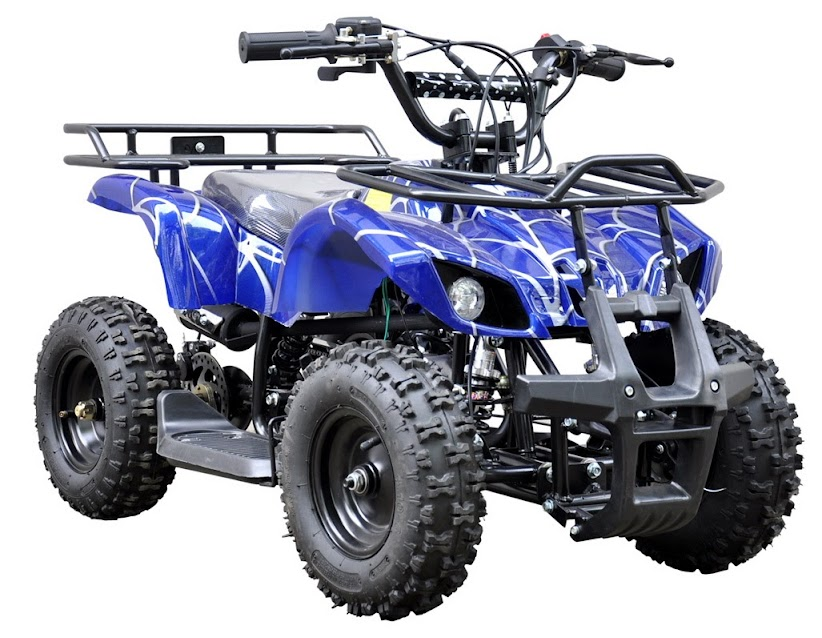 49cc farm ag kids quad bike atv 2 stroke blue