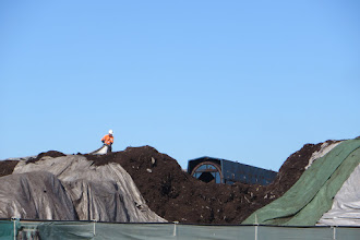 Photo: Last trommel to process fine compost ready for garden use