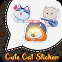 Cute Cat Sticker For WhatsApp : Kitten Sticker 😹 icon