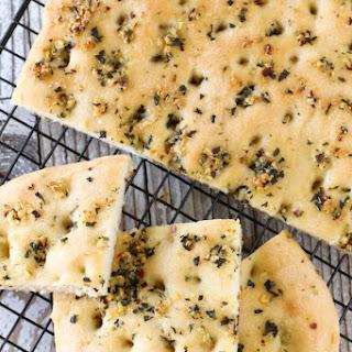 Gluten Free Vegan Garlic Herb Focaccia Bread.