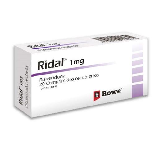 Risperidona Ridal 1 Mg X 20 Comprimidos Roemmers 1 MG X 20 COMPRIMIDOS