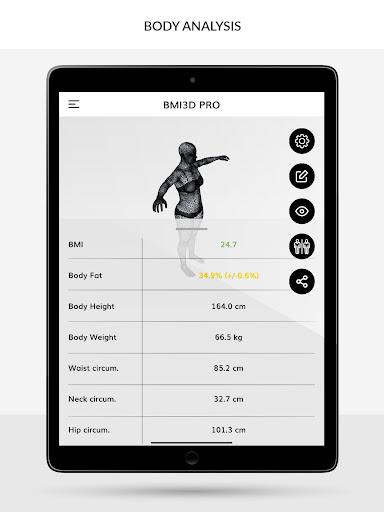 BMI 3D - Body Mass Index and body fat in 3D 5.6 Screenshots 4