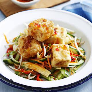 Salt and Pepper Tofu with Sweet Chili Salad.