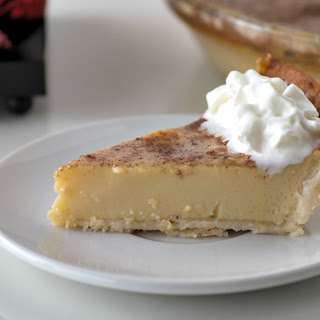 Holiday Eggnog Custard Pie.