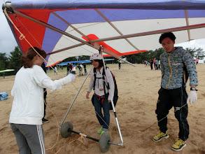 Photo: 強風のためハング体験
