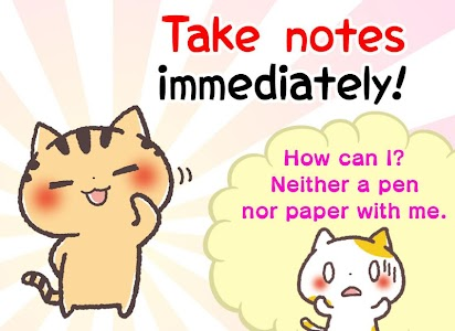 Kansai Cats Sticky Note screenshot 0
