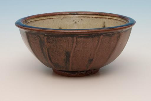 Jim Malone Large Ceramic Cut Sided Bowl