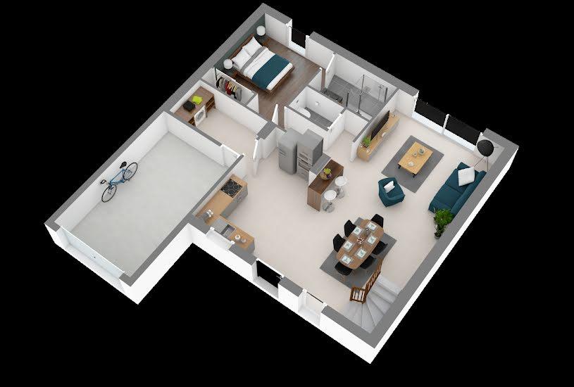 Vente Terrain + Maison - Terrain : 606m² - Maison : 100m² à Candé (49440)