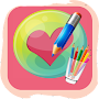 How to draw Heart of love step by step APK icon