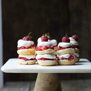 Mini Strawberry Shortcake Stacks.