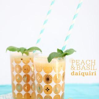 Peach and Basil Frozen Daiquiri.