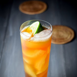 Exotic Delicious Dark and Stormy Cocktail