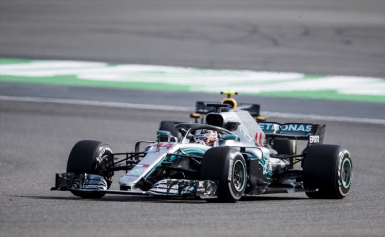 Lewis Hamilton of Great Britain driving the (44) Mercedes AMG Petronas F1 Team Mercedes WO9 on track during final practice for the Formula One Grand Prix of China at Shanghai International Circuit on April 14, 2018 in Shanghai, China.