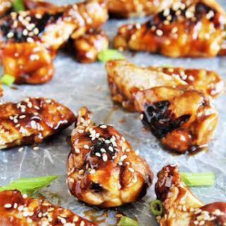 Grilled Honey Sesame Chicken Wings.