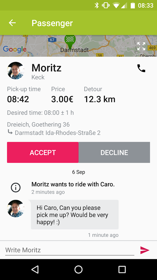 flinc - Ridesharing- screenshot