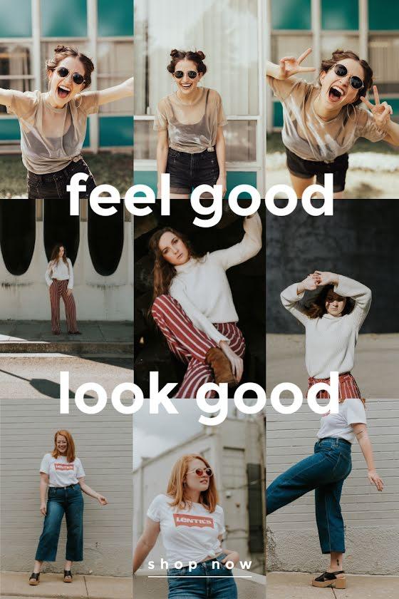 Feel Good Look Good - Pinterest Pin Template