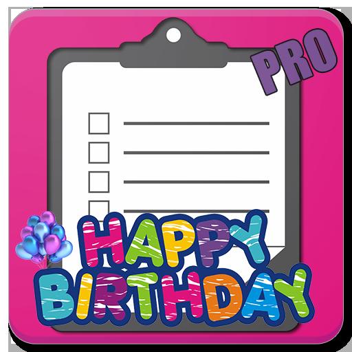 Birthday Party Checklist (PRO)