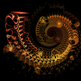 Spiral 51 by Cassy 67 - Illustration Abstract & Patterns ( digital, love, harmony, surreal, abstract art, spiral, abstract, fractals, digital art, swirl, modern, light, fractal, energy )