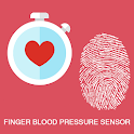 finger blood pressure sensor icon