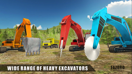 Heavy Excavator Rock Mining Stone Cutter Simulator 4.2 screenshots 9