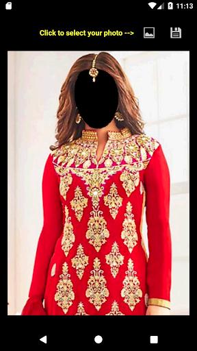 Bridal Salwar Suit Face Changer 2.0 screenshots 1
