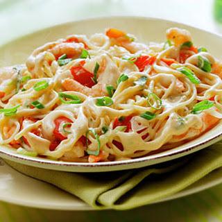 Spaghetti Met Garnalen, Cherrytomaatjes En Vissaus